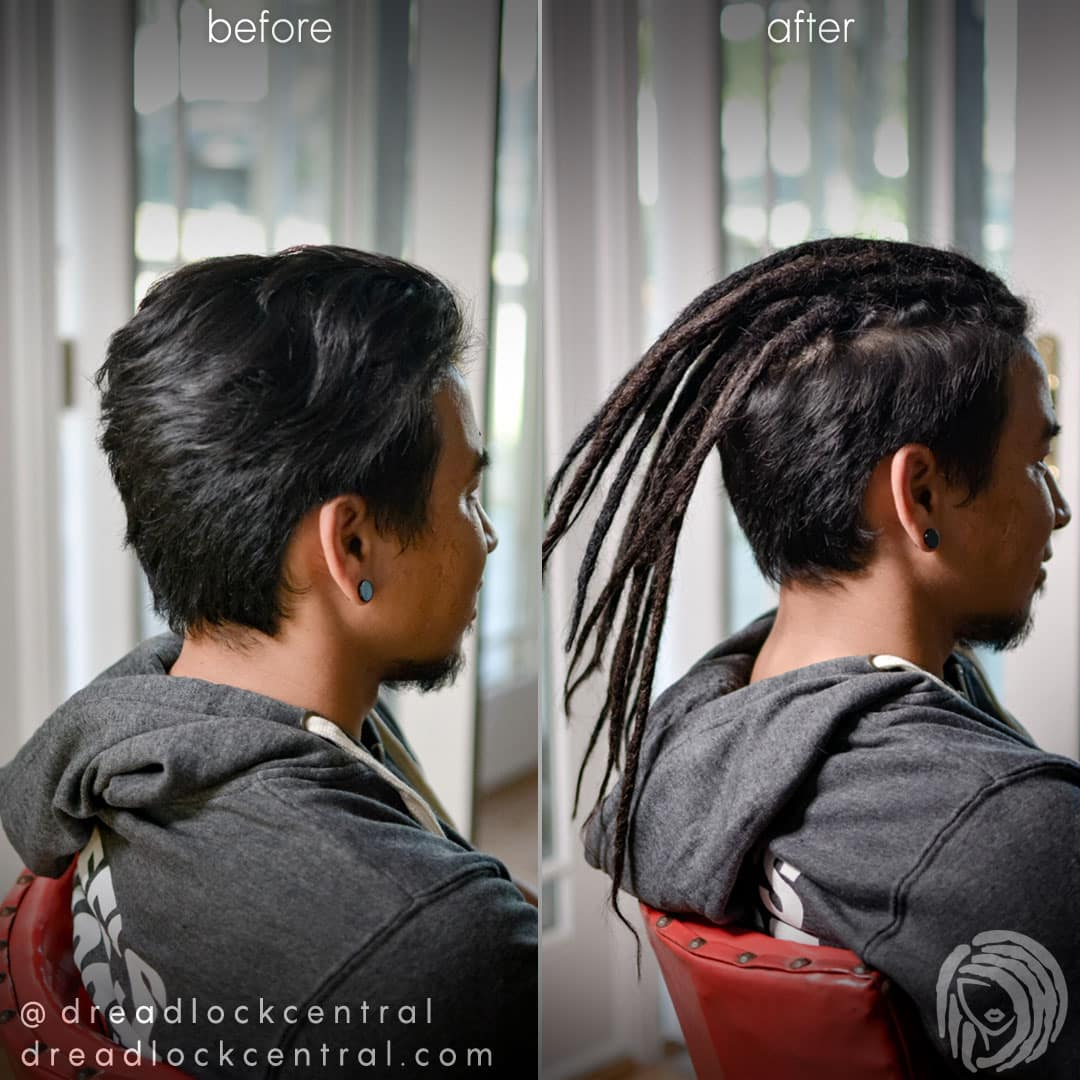 Asian Dreadlock Extensions for our Vietnamese Client