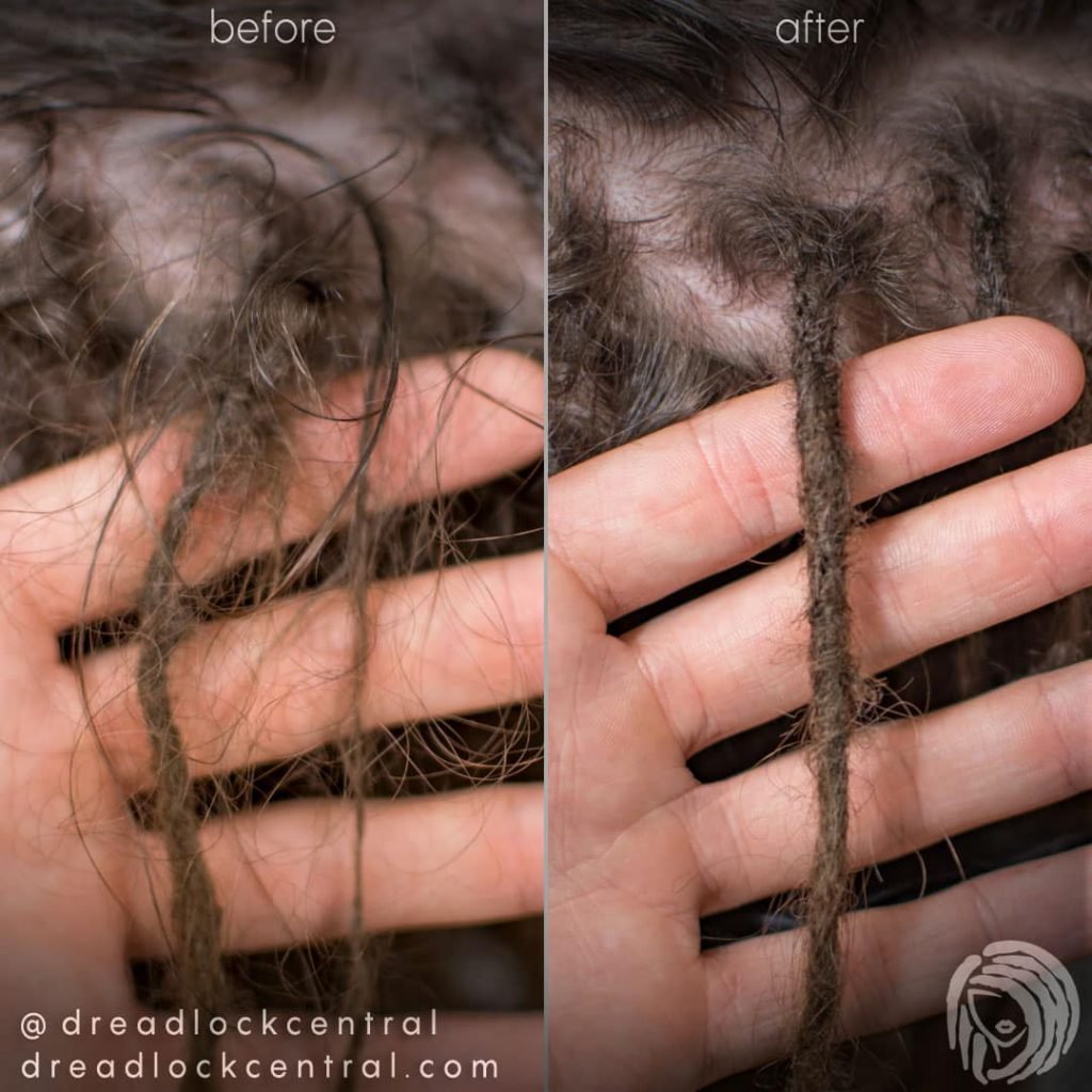 Fixing Dreads on loose Caucasian Hair