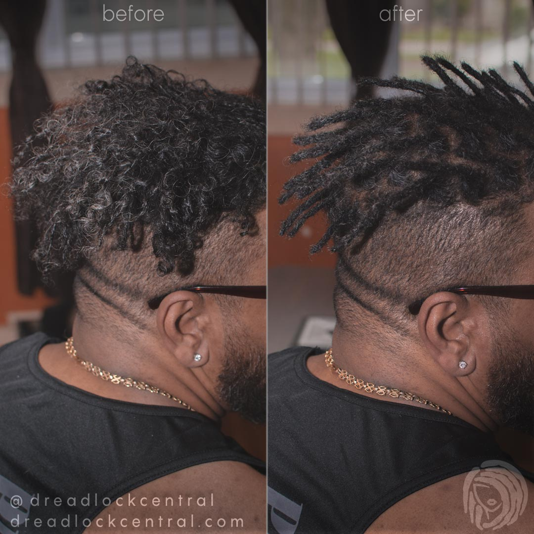 Dreadlock Repair on loose Caucasian Dreads