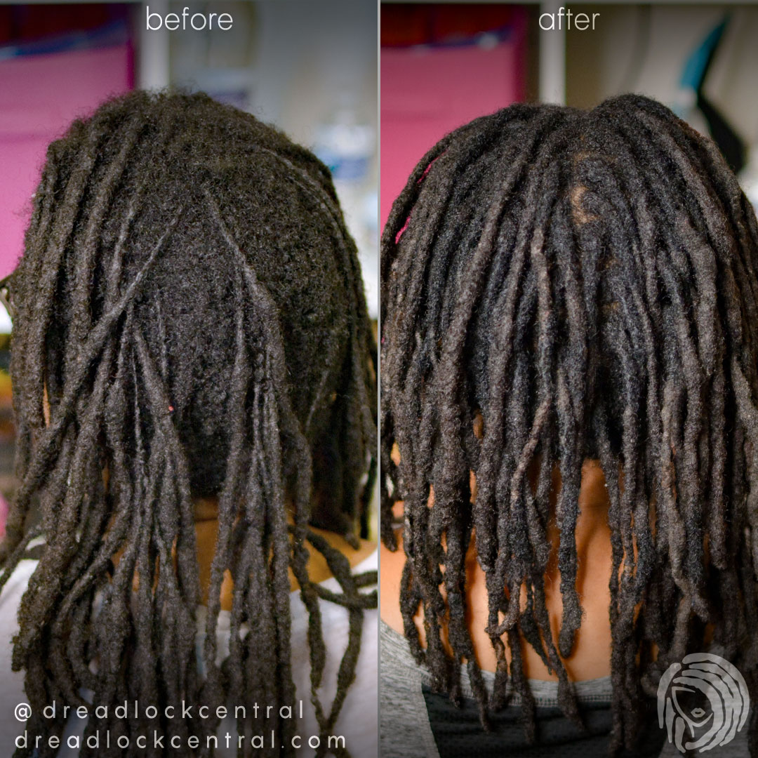Dreadlock Reattachment and Repair with Afro Hair