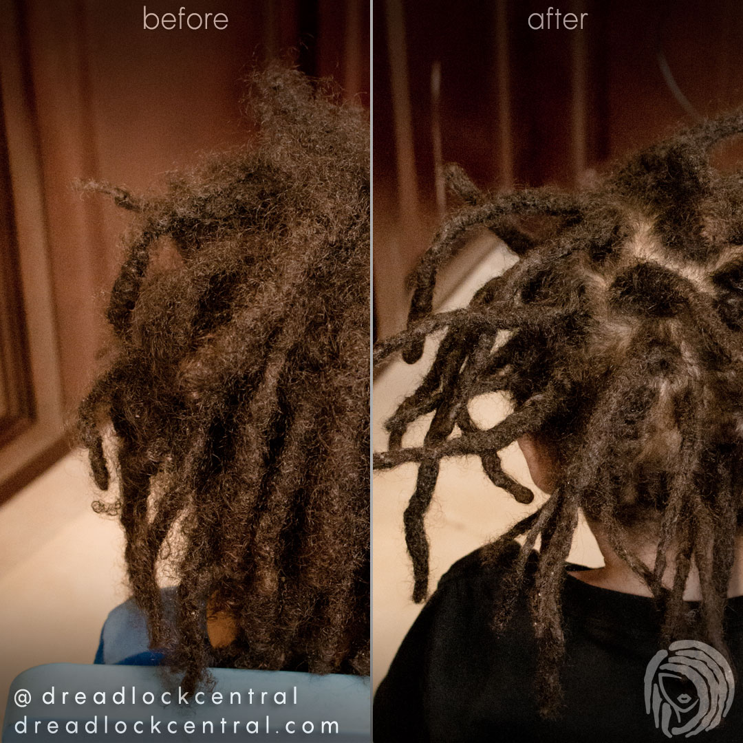 Dreadlock Repair on two year old boy