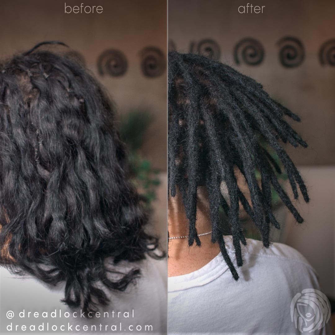 Dreadlock Installation Before and After